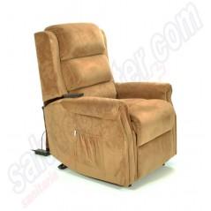 Poltrona relax anziani reclinabile ad 1 motore con alzapersona Roma S1