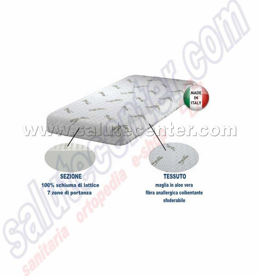 Materasso Ortopedico In Schiuma Di Lattice Tessuto Aloe vera Latex ...