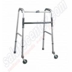 Deambulatore per Anziani e Disabili a 2 Ruote piroettanti