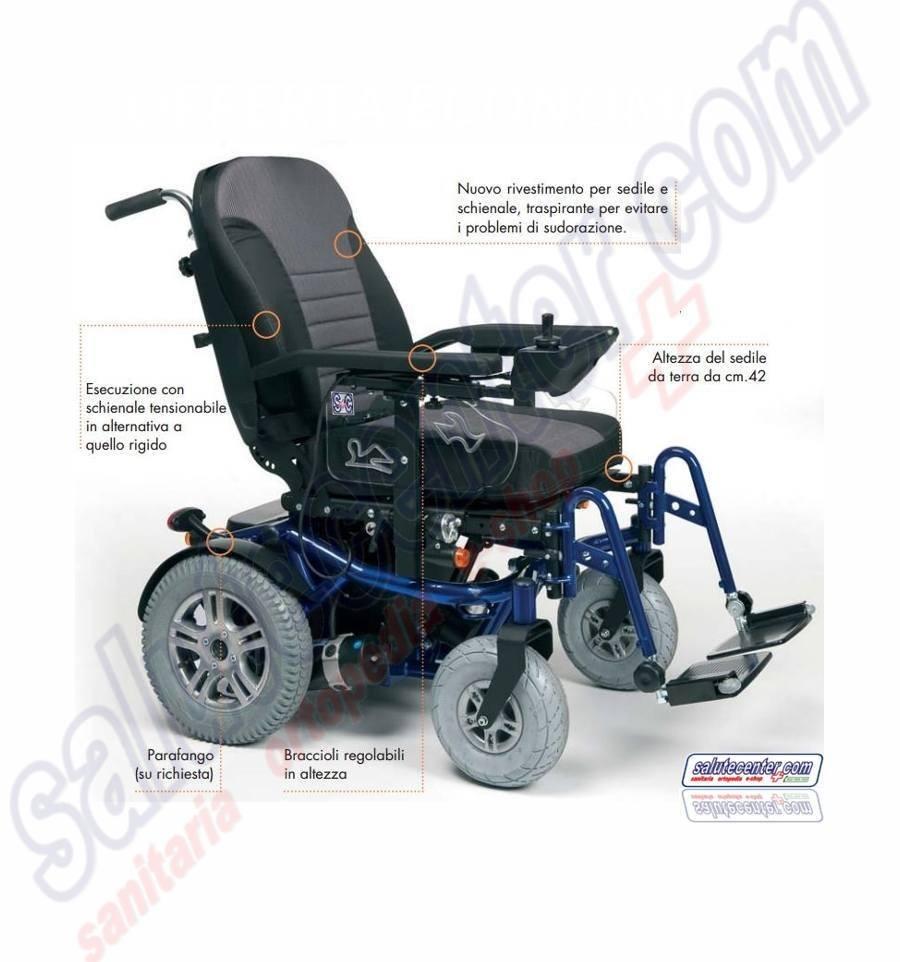 Sedia a rotelle elettronica Carrozzina Elettrica Forest II ...