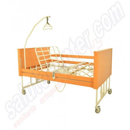 Banjo Large - Letto ospedaliero elettrico indicato per taglie forti, con sponde e alza malato - 120x195