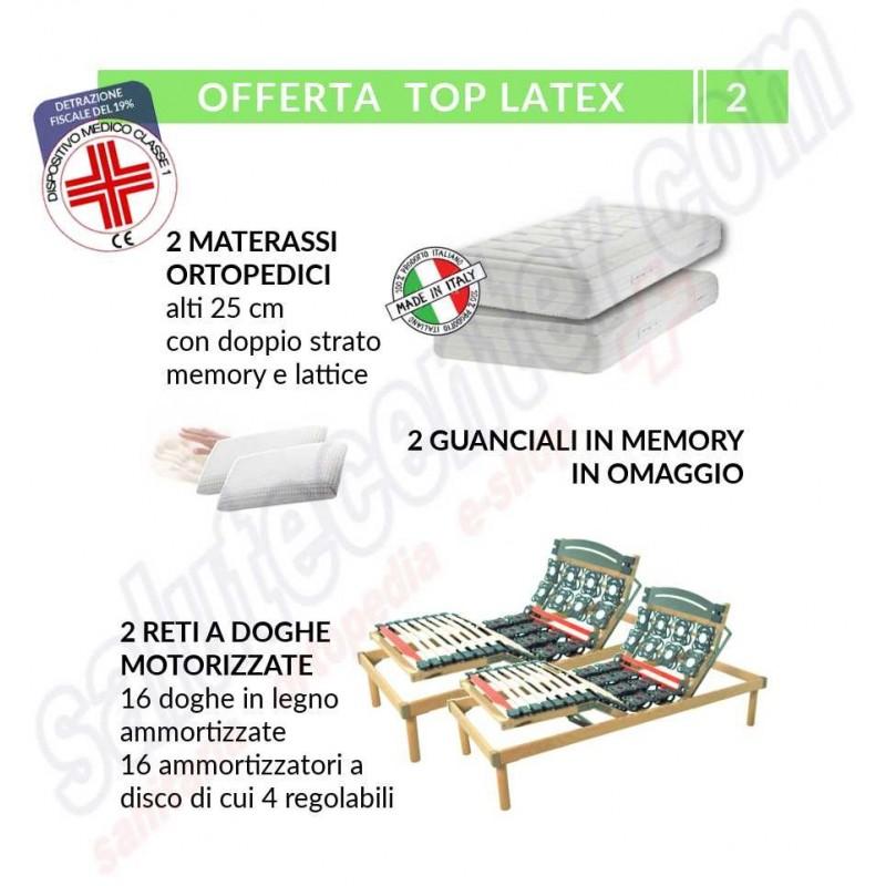 Offerta Per 2 Reti A Dischi E Doghe Con 2 Materassi Memory E Lattice