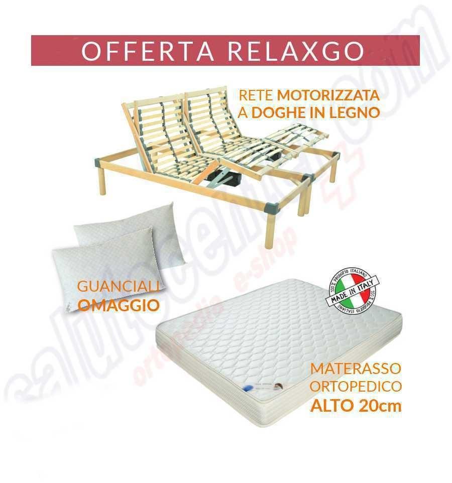 Offerta Relax Go rete ortopedica motorizzata con materasso e cuscino