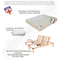 Offerta silver memory rete motorizzata a doghe materasso matrimoniale