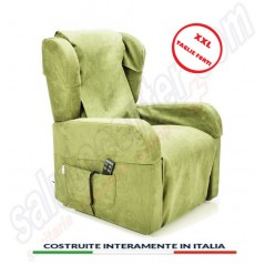 Poltrona sfoderabile con braccioli estraibili Roma 4 ruote kit roller