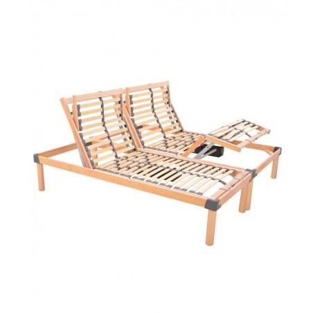 Rete ortopedica elettrica matrimoniale a doghe in legno rinforzata Relax Go 500