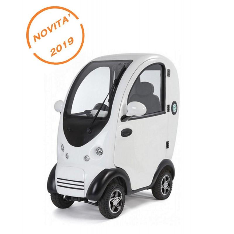 scooter disabili anziani elettrico cabinato coperto Happy mobility