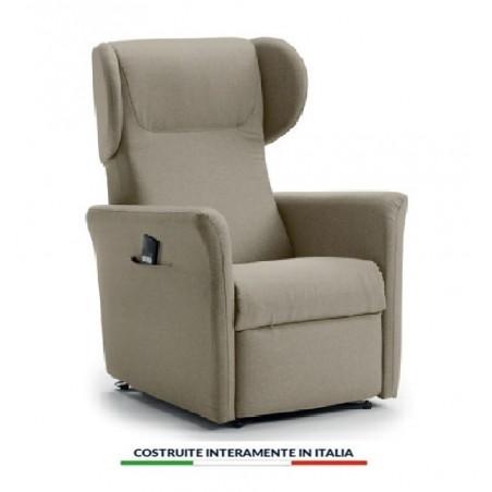 CAGLIARI 2: Poltrona relax a due motori completamente sfoderabile con seduta in memory