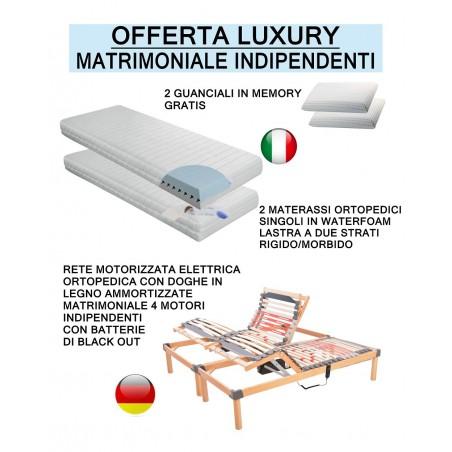 Offerta luxury - rete elettrica 2 materassi 2 guanciali prezzi scontati