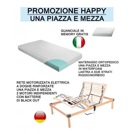 Promozione Happy - Offerta rete elettrica + Materasso ortopedico + Cuscino