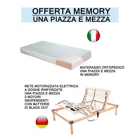 Offerta per rete motorizzata con materasso in memory a prezzo scontato