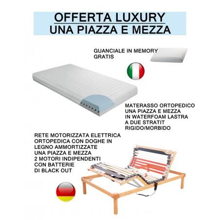 Offerta luxury - rete elettrica - materasso - guanciali prezzi scontati