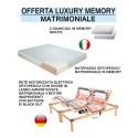 Offerta luxury memory 2 reti elettriche 2 materassi 2 cuscini scontati