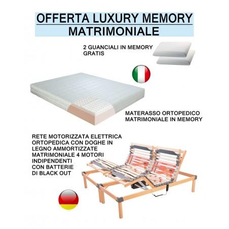 Offerta luxury memory rete motorizzata a doghe materasso matrimoniale