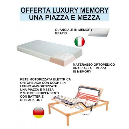 Offerta luxury memory rete motorizzata a doghe