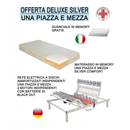 Offerta silver memory deluxe rete motorizzata a dischi materasso in memory