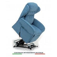 Poltrona relax a 2 motori Venezia 4 ruote reclinabile ed alza persona