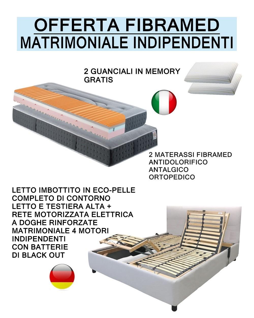 Offerta Letto Contenitore Con Materasso.Offerta Fibramed Letto Contenitore Con Giroletto Imbottito In Eco
