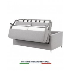 Divano letto contenitore motorizzato elettrico Firenze con rete a doghe in legno con guanciale in omaggio