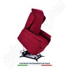 Poltrona relax lift sfoderabile Messina 4 ruote poggiatesta regolabile