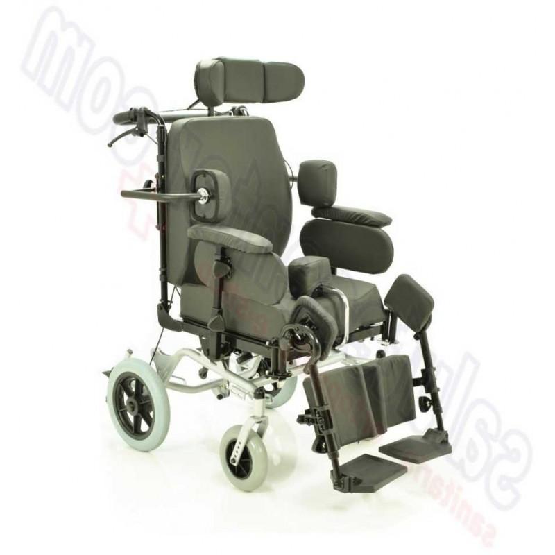 Carrozzina Sedia per invalidi polifunzionale basculante da transito
