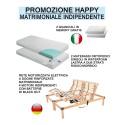 Promozione Happy Offerta Rete Elettrica Materasso Ortopedico e Cuscino