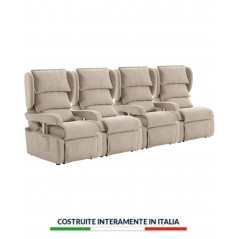 divano poltrona relax motorizzato elettrico portofino 4 ruote sfoderabile alza persona braccioli regolabili