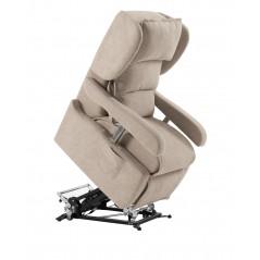 poltrona relax motorizzata elettrica PORTOFINO 4 sfoderabile alza persona 4 ruote braccioli regolabili