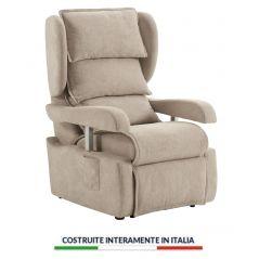 Poltrona Relax Portofino 4 Ruote 2 Motori Elettrici Indipendenti Lift Alza Persona Braccioli A Pressione Ortopedica Sanitaria