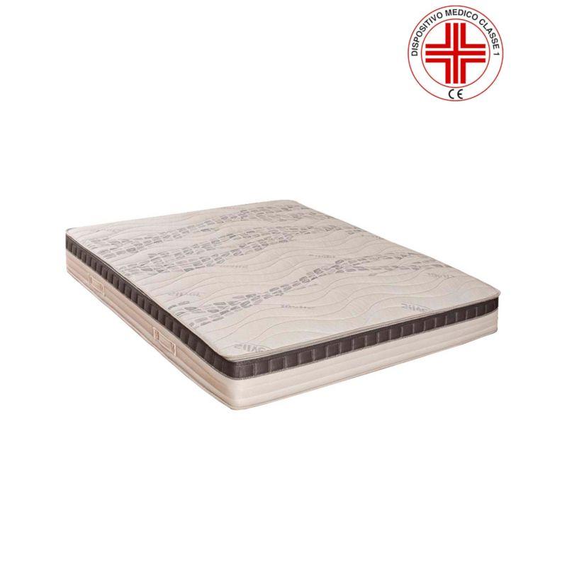 Materasso Ortopedico Roma A Molle Insacchettate E Memory Innovativa Camera D'Aria Tessuto Silver Antibatterico H 23