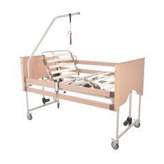 Letto Ortopedico Trento 4 Motori Sollevamento Verticale Funzione Trendelenburg 4 Ruote Sponde E Alza Malato