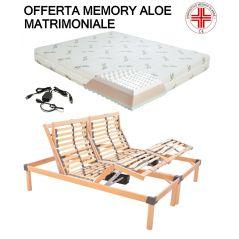 Offerta Memory Aloe Composta Da Rete Motorizzata Elettrica Materasso Ortopedico
