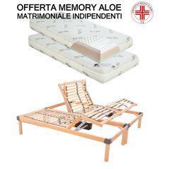 Offerta Memory Aloe Composta Da Rete Motorizzata Elettrica Indipendente Materasso Ortopedico