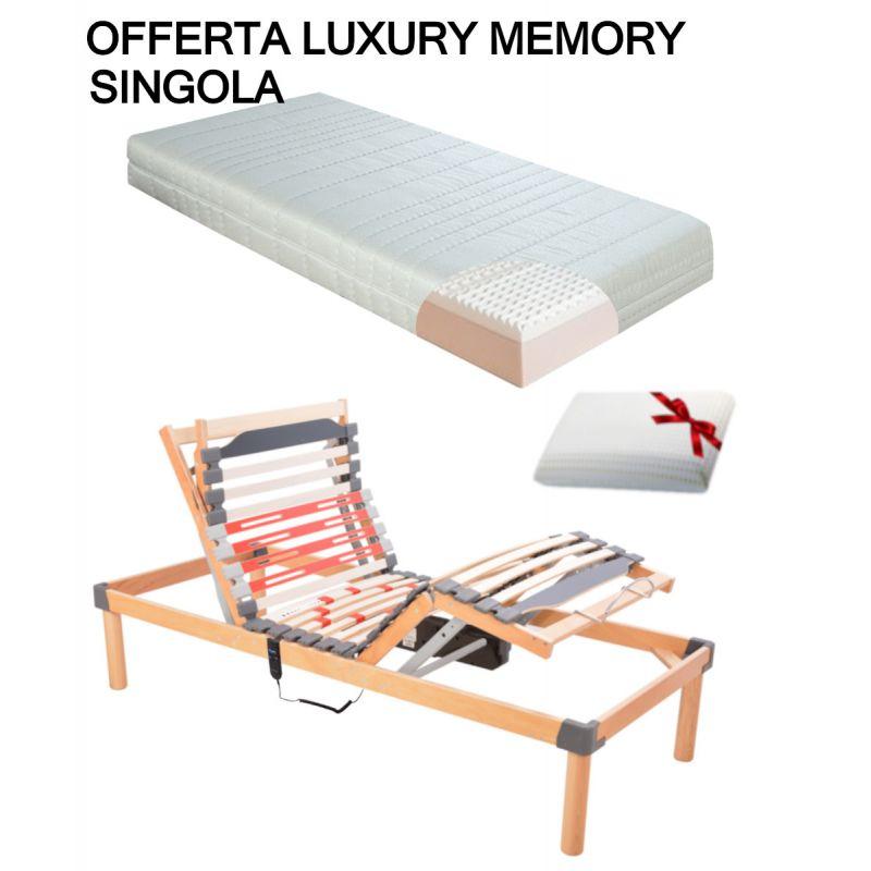 Offerta Luxury Memory Rete Elettrica Materasso Memory Guanciale Omaggio