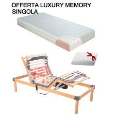 Offerta Luxury Memory Rete Elettrica Ammortizzata Materasso Memory Sfoderabile Guanciale In Omaggio