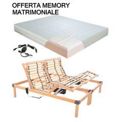 Offerta Memory Rete Motorizzata Materasso Ortopedico Memory Matrimoniale