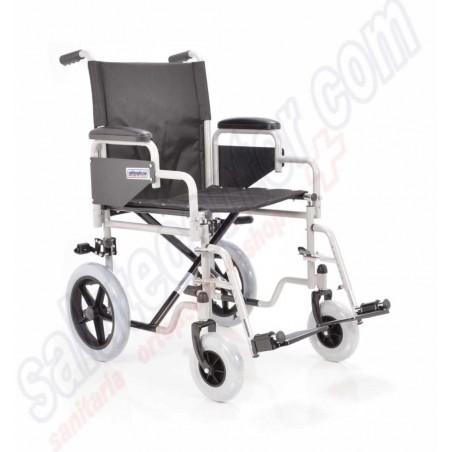 Carrozzina pieghevole da passeggio o transito per disabili, anziani e invalidi