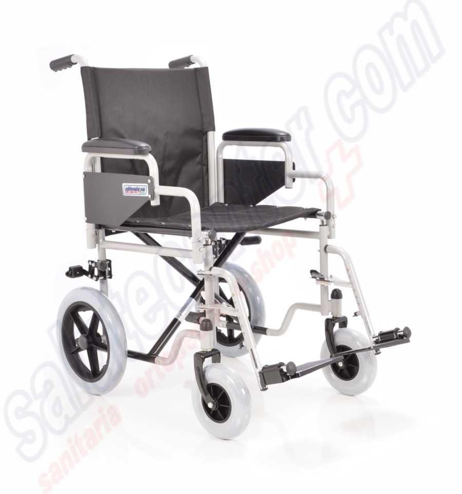 Carrozzina pieghevole da passeggio o transito per disabili - Sedia da bagno per disabili ...