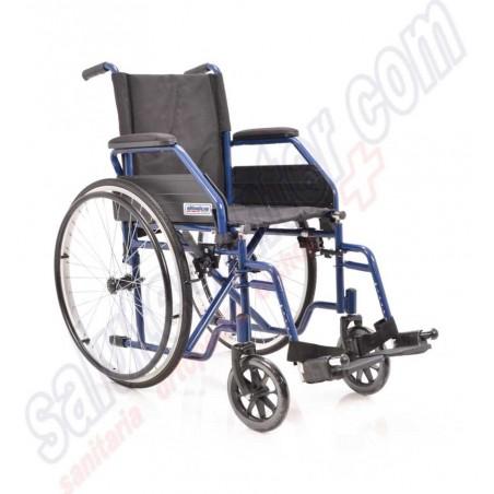 Sedia a Rotelle pieghevole in acciaio ad autospinta con braccioli e pedane removibili
