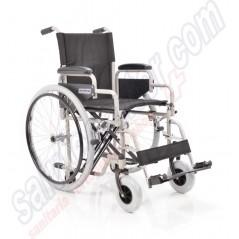 Sedia a rotelle in lega di metallo autospinta transito e ruote estraibili