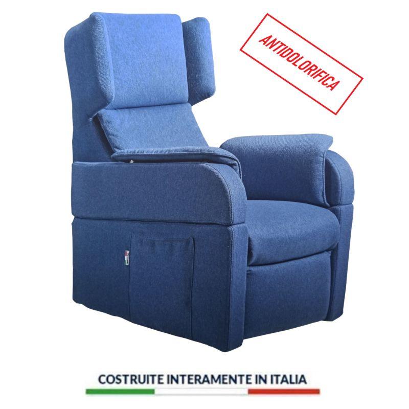 Poltrona Relax Taormina 4 Ruote Lift Antidolorifica Antalgica Medica