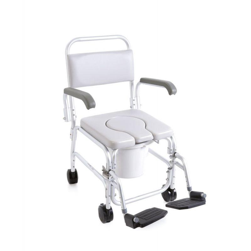 Sedia Comoda WC Da Doccia Con Ruote Per Anziani E Disabili