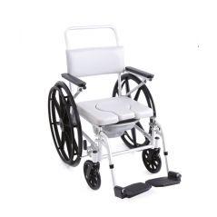 Sedia Comoda Da Doccia E WC Ruote Da Auto Spinta Per Anziani E Disabili