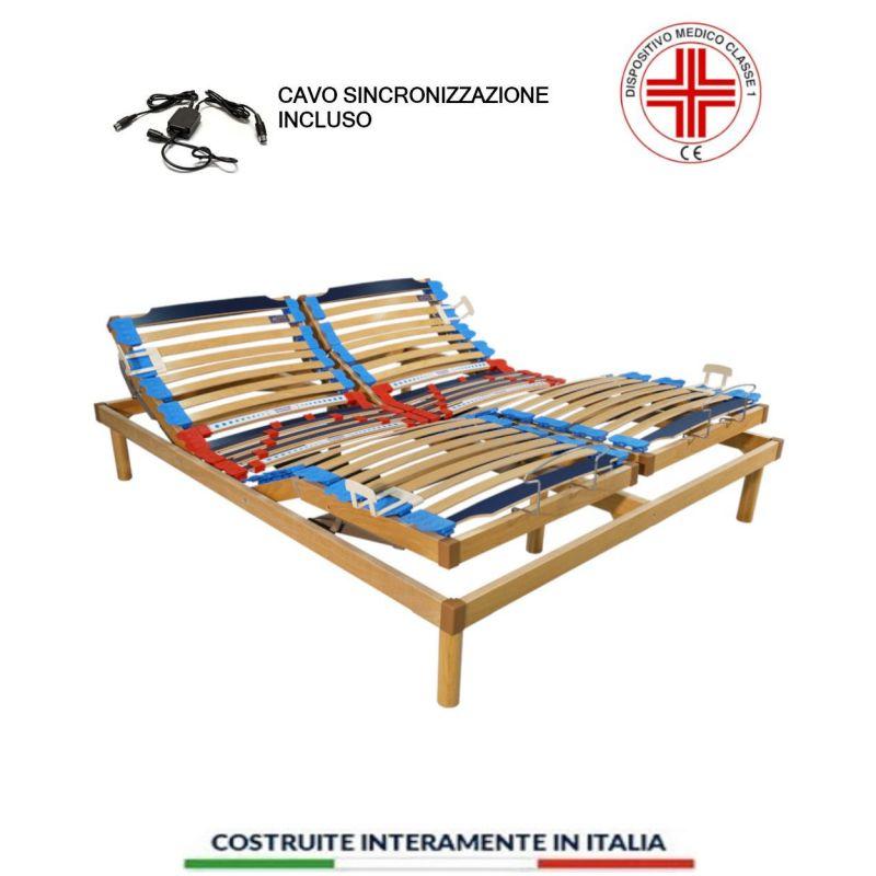 Rete Motorizzata Elettrica Ortopedica A Doghe In Legno Relax Go 4000