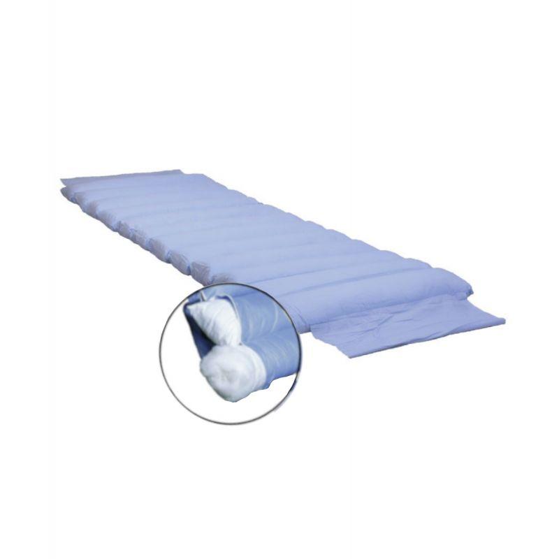 Materassino Antidecubito Fibra Cava Siliconata Fodera Di Cotone H 13 Sfoderabile Lavabile
